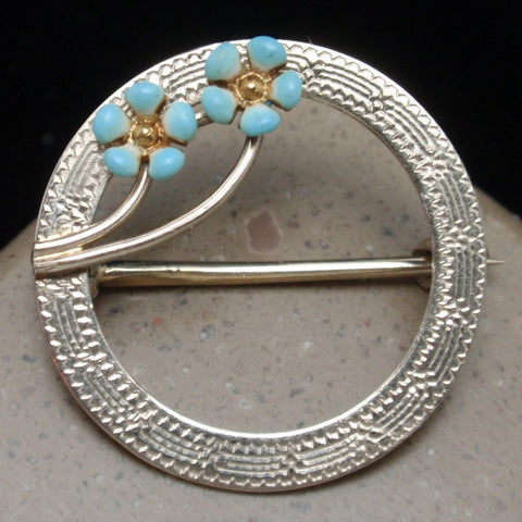 White Gold Circle Pin