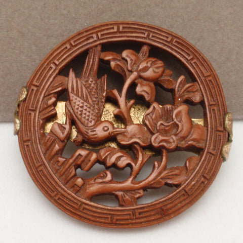 Carved Wooden Pin