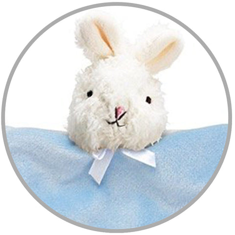 Blue Bunny Teething Pacifier Blanket