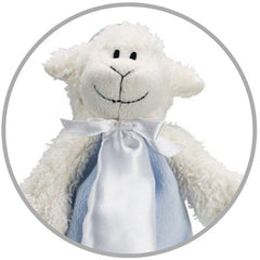 Blue Lamb Plush Pacifier Blanket