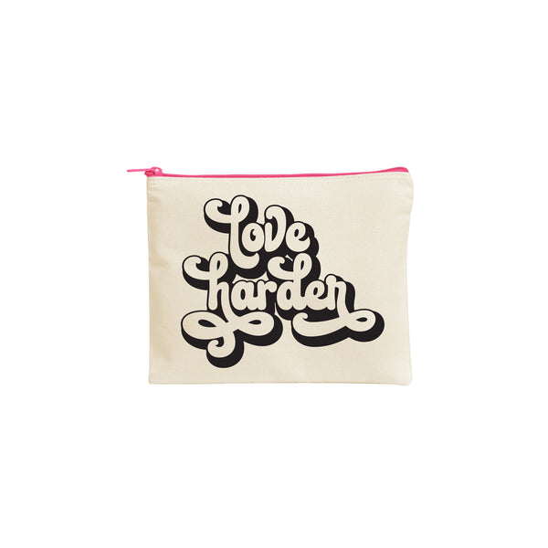 Love Harder Canvas Pouch