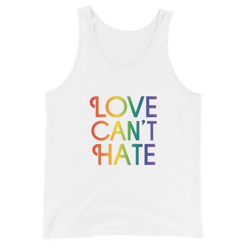 Love Can't Hate Rainbow Tank Top
