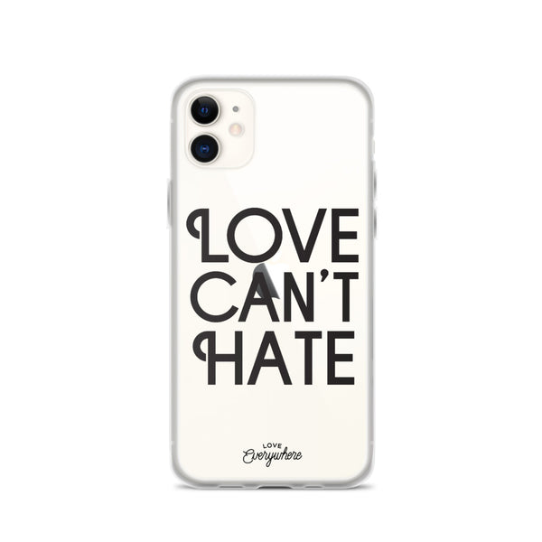 Love Can't Hate iPhone Case
