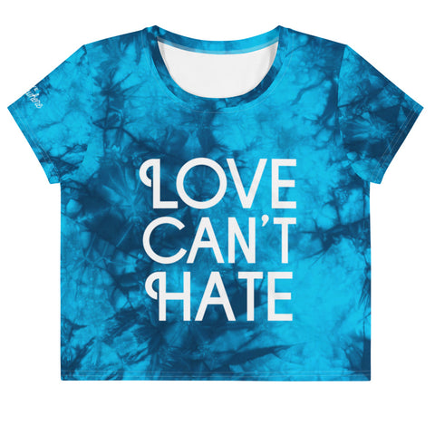 Tie Dye Love Can't Hate Crop Tee