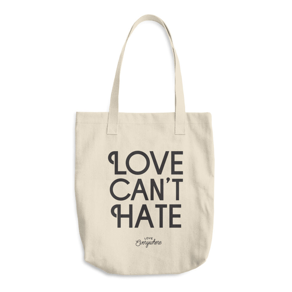 Love Can't Hate Tote Bag