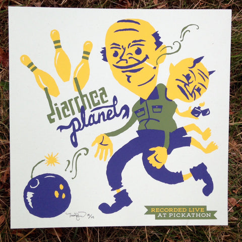 "Live At Pickathon: Diarrhea Planet (12"" x 12"" print)"