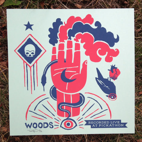 "Live At Pickathon: Woods (12"" x 12"" print)"