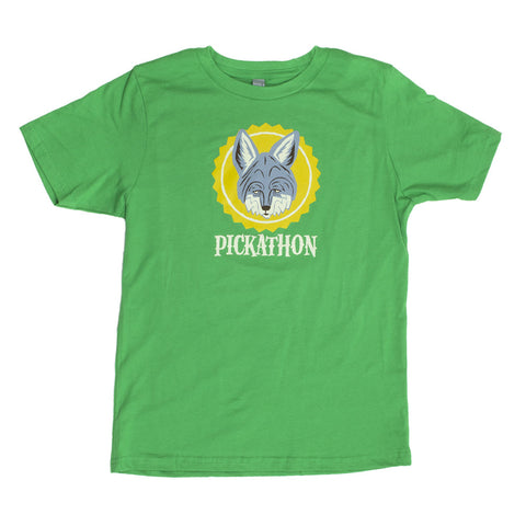 Pickathon 2016 Youth Coyote Tee - Kelly Green