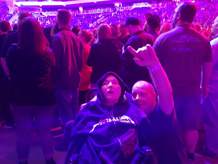 Single Dad Has Taken Son With Cerebral Palsy To Over 1,200 Heavy Metal Concerts