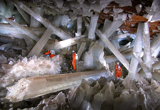 "Cave of Crystals ""Giant Crystal Cave"" at Naica, Mexico"