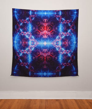 Interconnected Tapestry 60x60 Inches by FRAMEofMIND