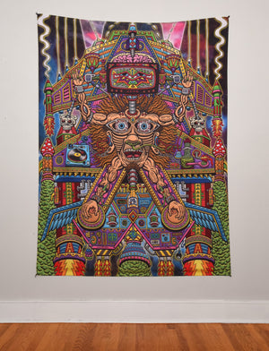 Sedated Slave Ship Tapestry 60x80 Inches by Chris Dyer