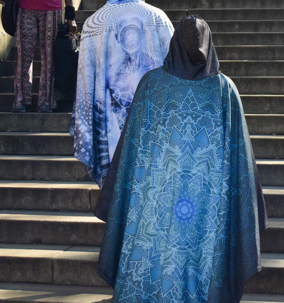 Blue Mandala Cloak by Cameron Gray