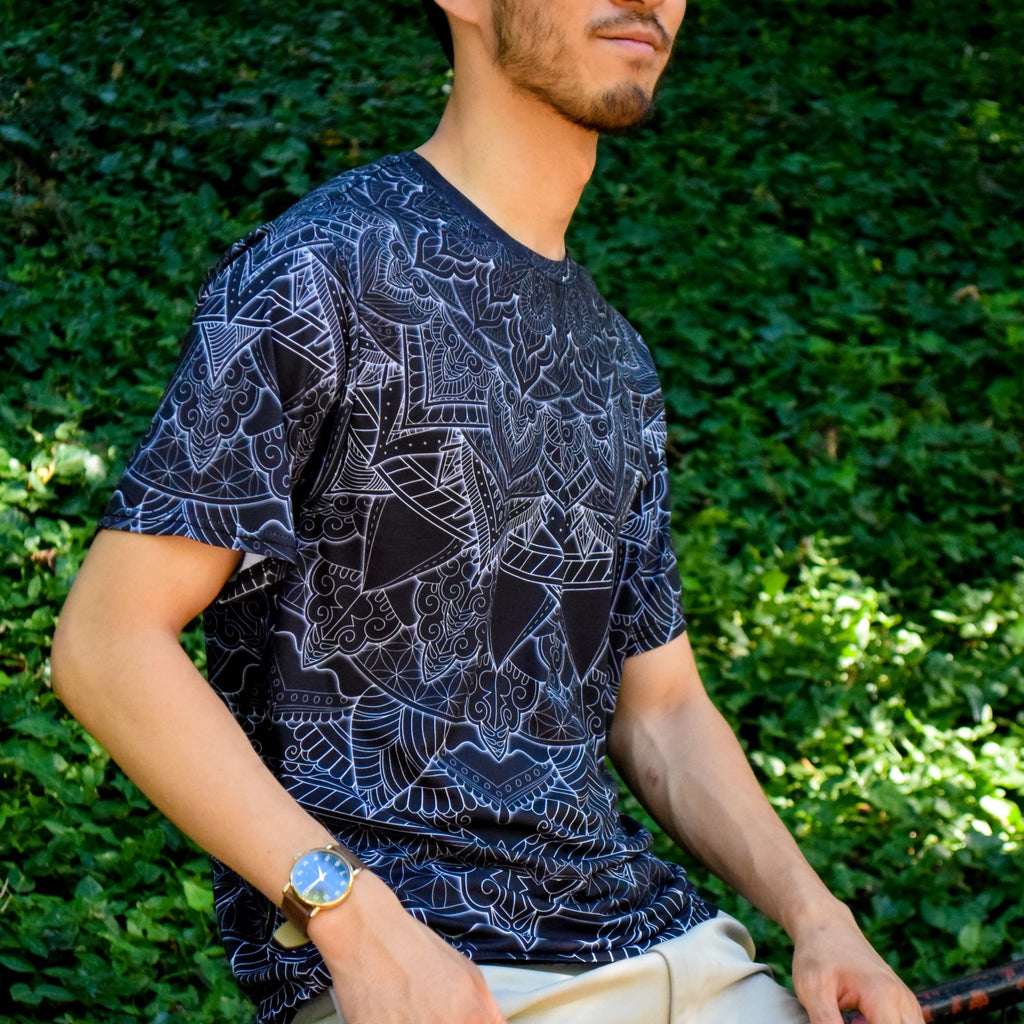 Black Mandala Tee by Cameron Gray