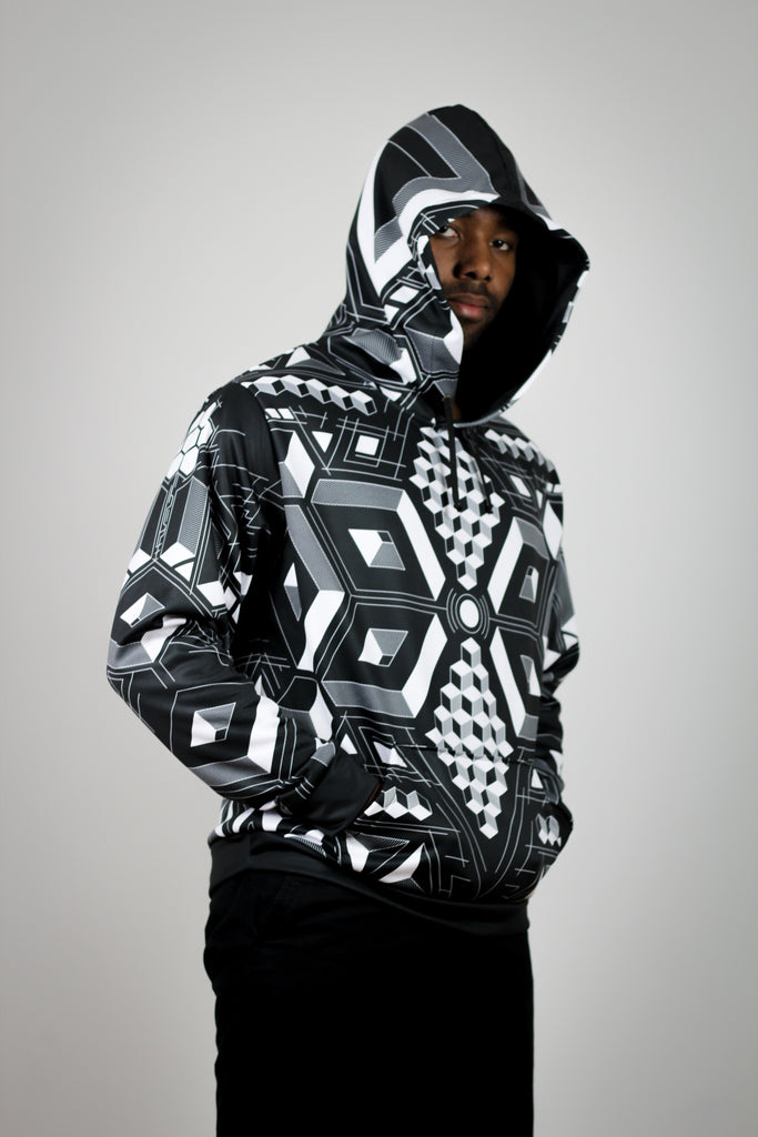 Hypercube Hoodie by Brock Springstead