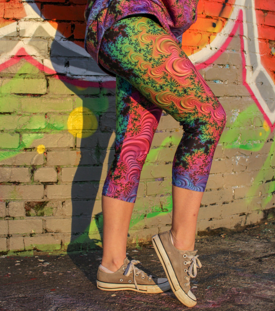 Oil Spill Capris by Katie Kaleidoscope