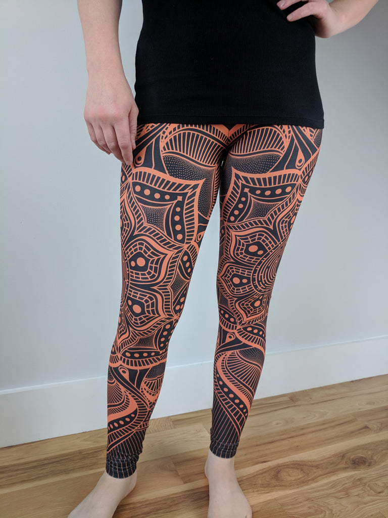 Vibrant Mandala Leggings by Brock Springstead