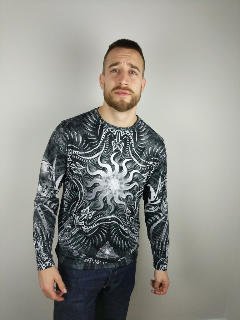Black.White Sol Invictus Long Sleeve by Hakan Hisim