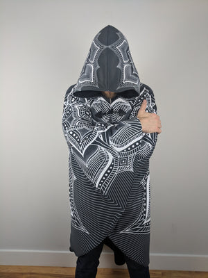 LIMITED EDITION: Monochrome Mandala Cloak by Brock Springstead