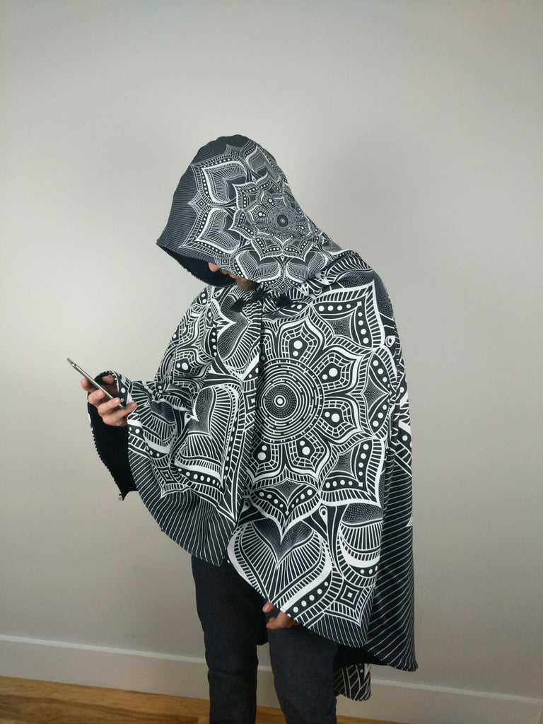 Monochrome Mandala Cloak by Brock Springstead