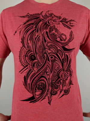 "Dragon ""Subtle"" Tee by Ahmed Fouad"