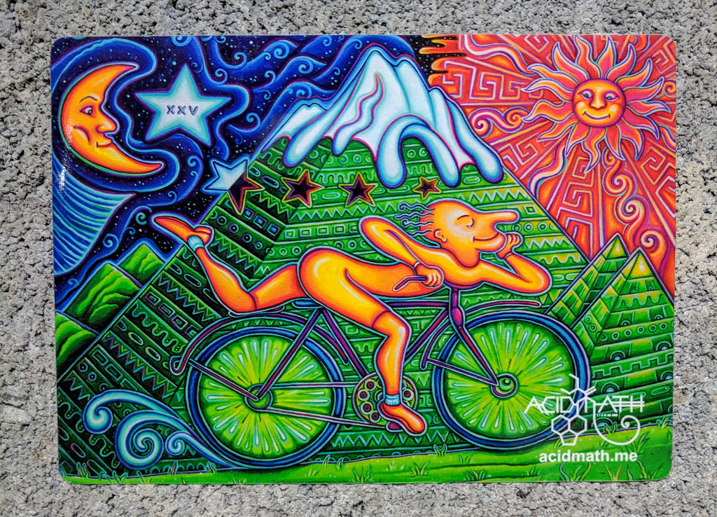 Bicycle Day by Speaker LIMITED EDITION Art Sticker
