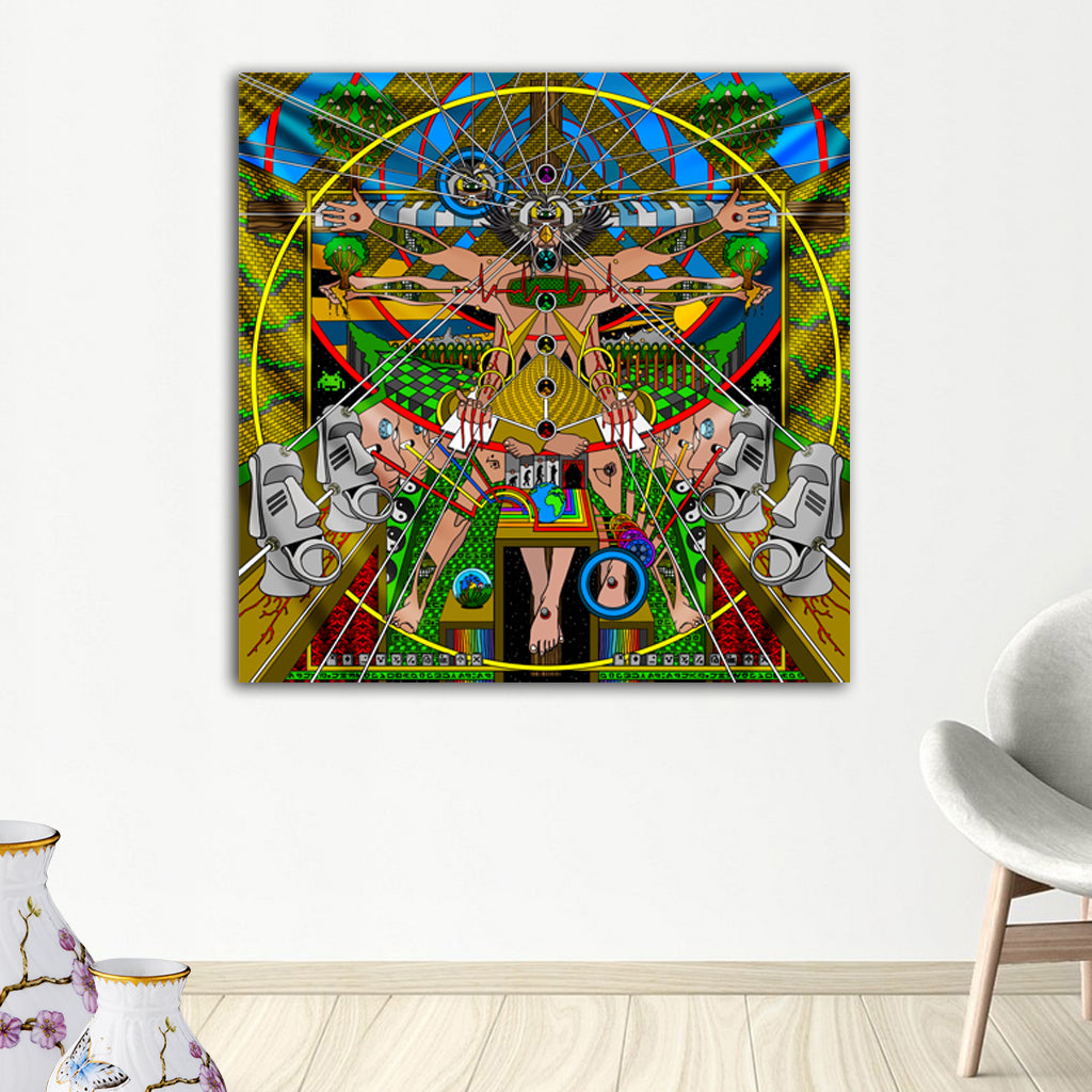 Vitruvian Man Tapestry by Ivi Mo