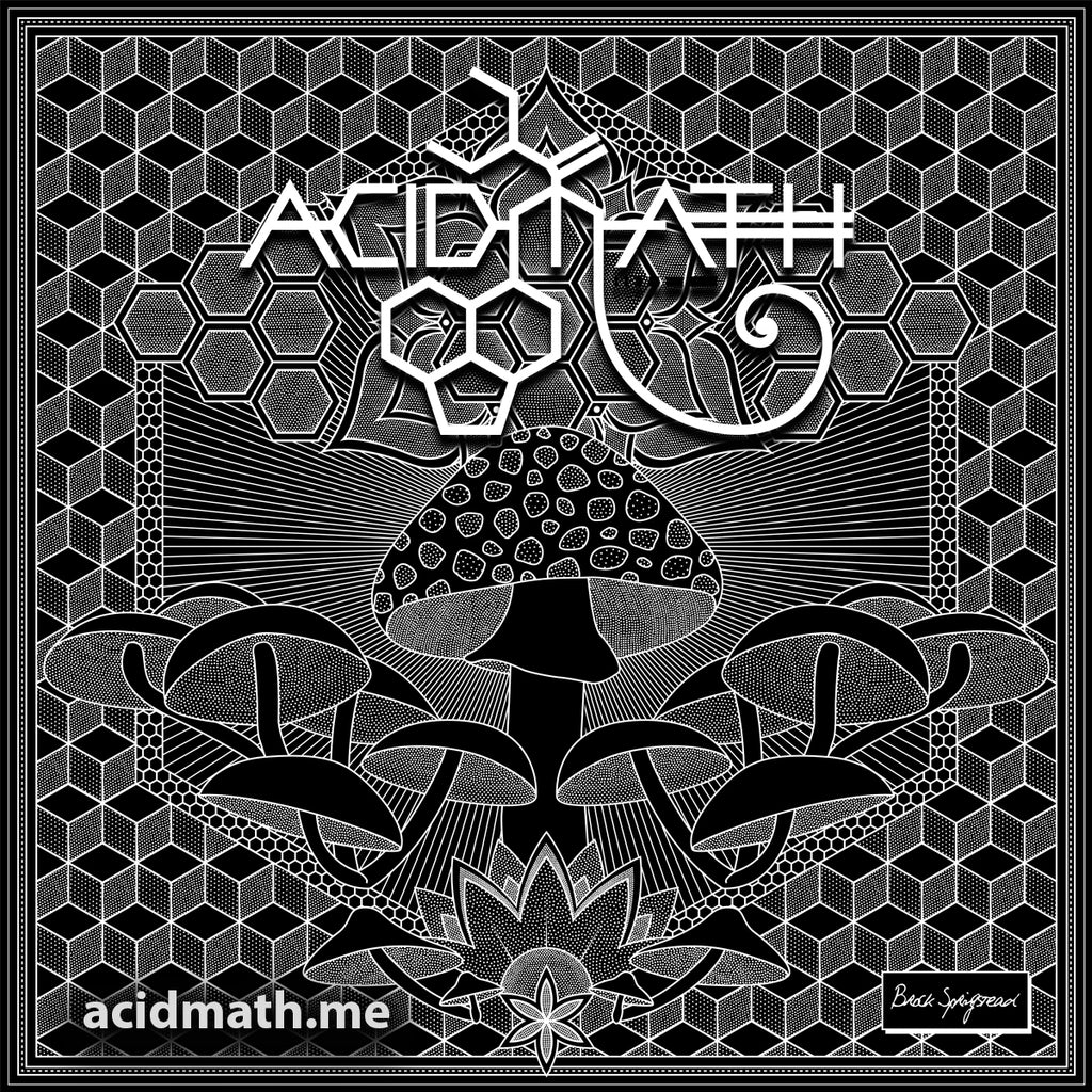 Acidmath Mushroom Mandala Logo Sticker