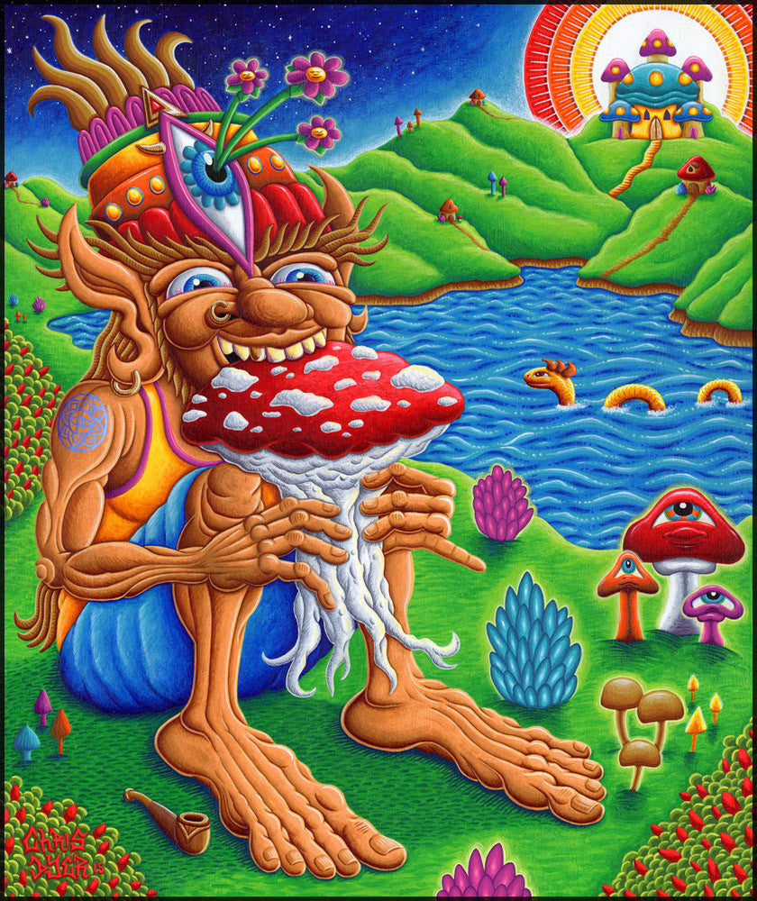 Muncher of Mushroomland by Chris Dyer