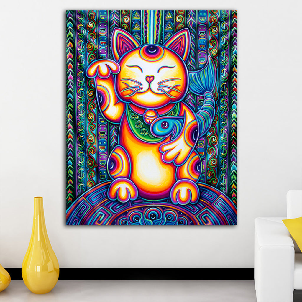 Lucky Cat Tapestry by Speaker