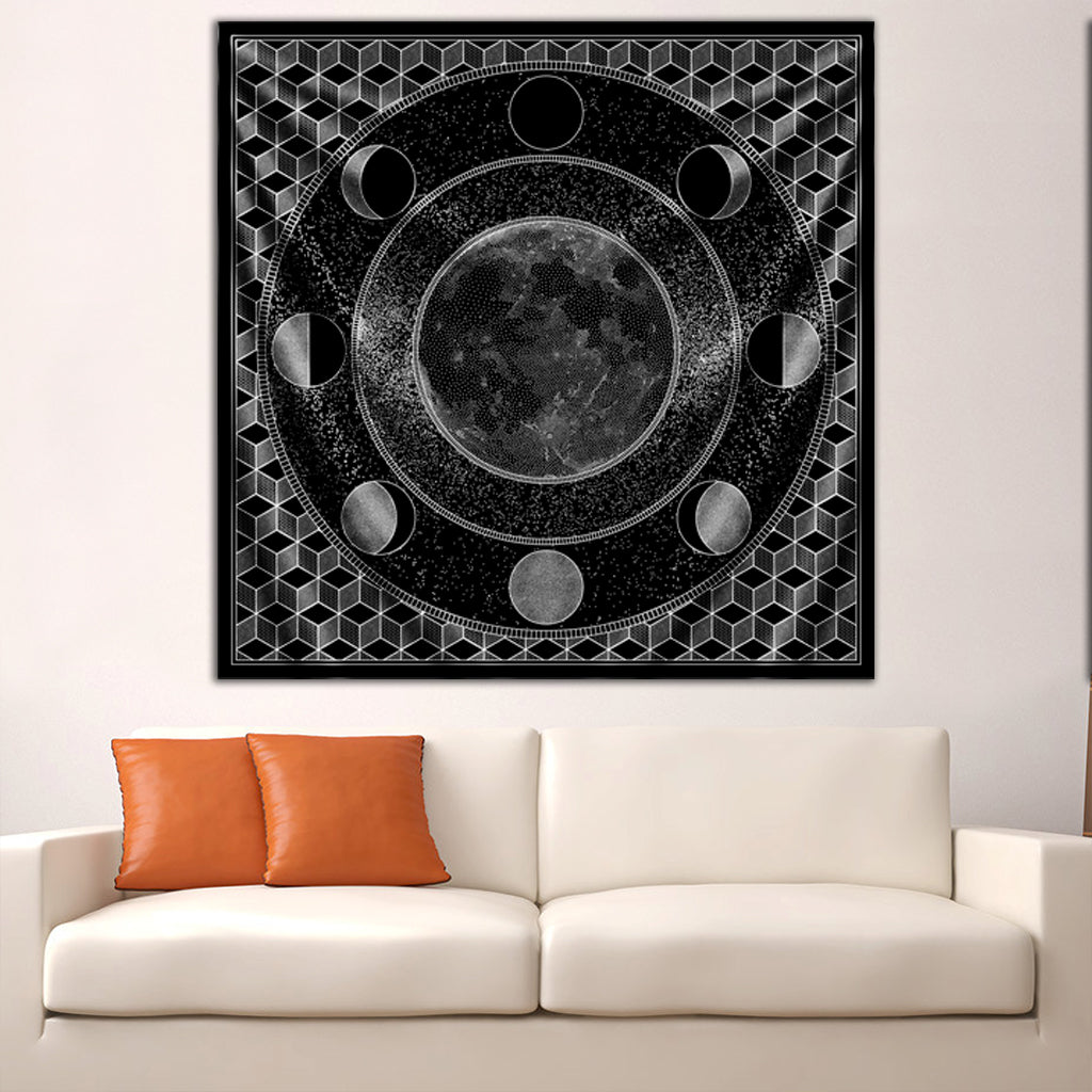 Moon Mandala Tapestry by Brock Springstead