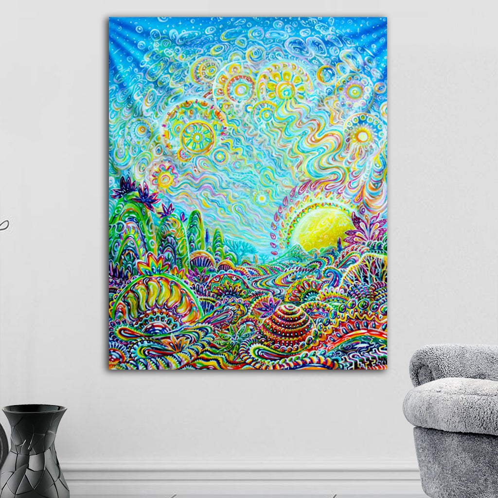 Melting Sunrise Tapestry by Sukut
