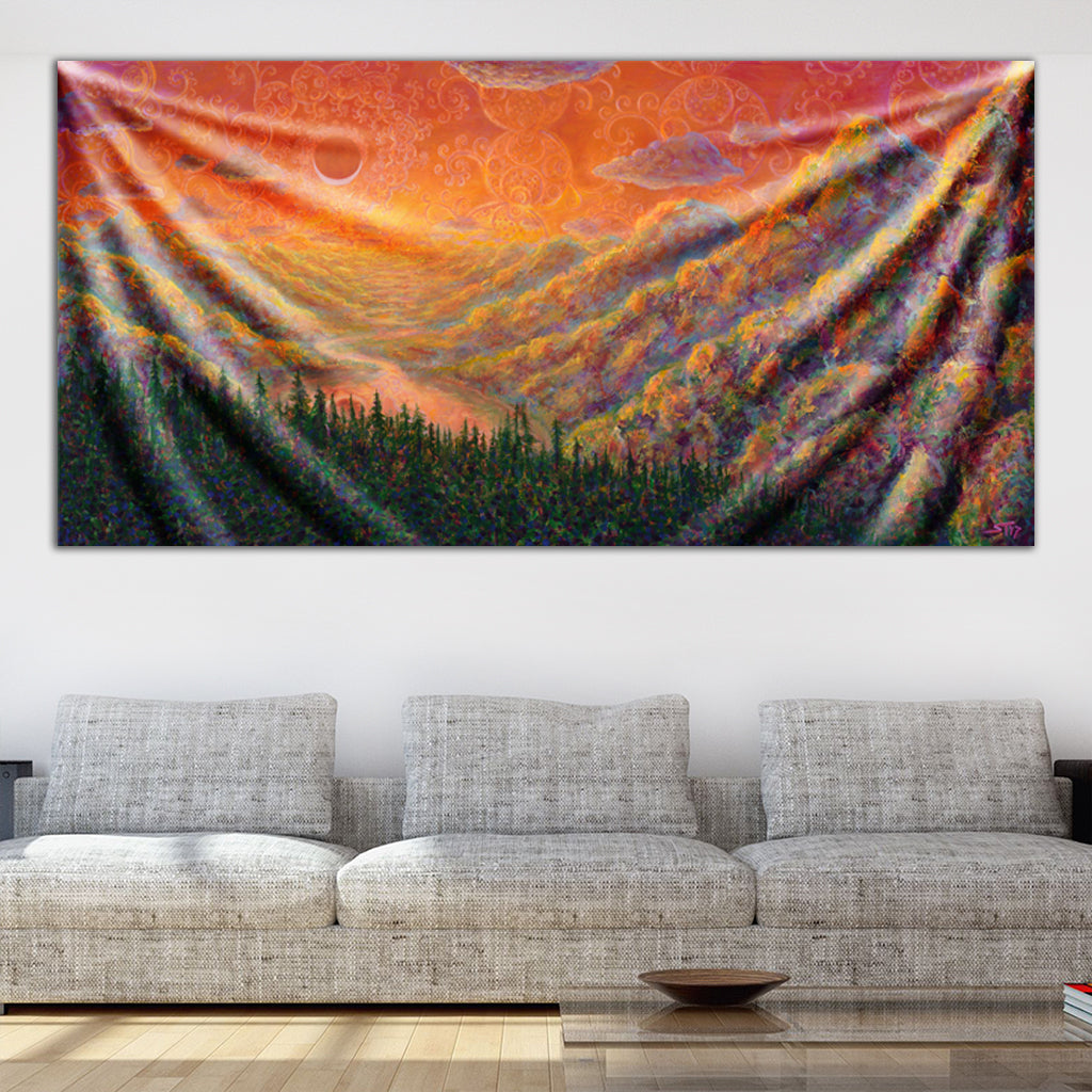 Rose Hip Reservoir Tapestry by Scott Tuckfield