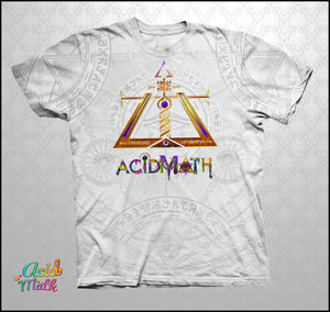 Acidmath White Insignia Legacy Sublimation Tee by Hakan Hisim