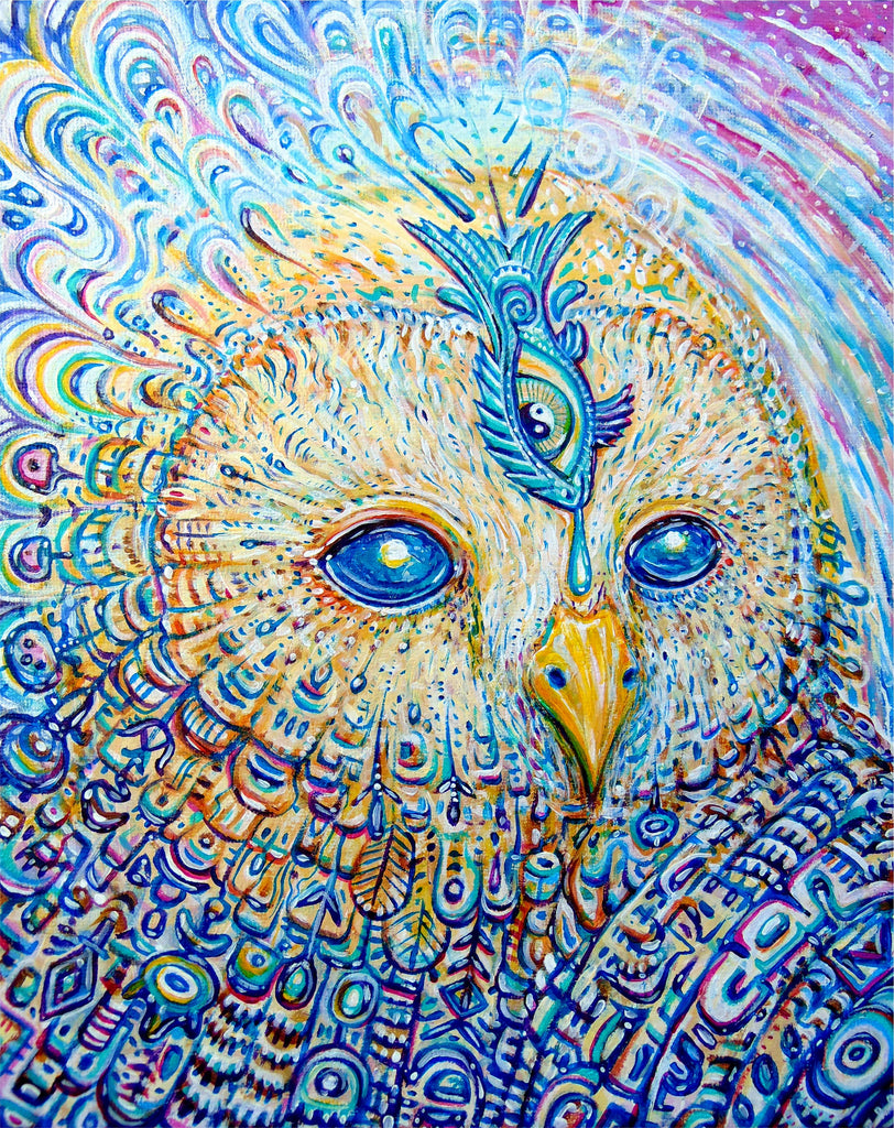 Acid Owl Print by Chris Sukut
