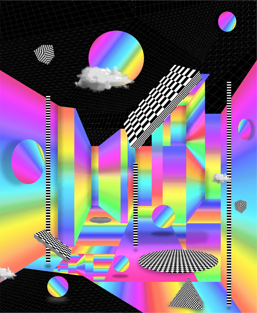 Rainbow Perspective Art Print by Klarens