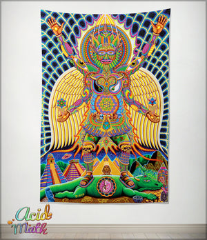 Neo Human Evolution Tapestry by Chris Dyer