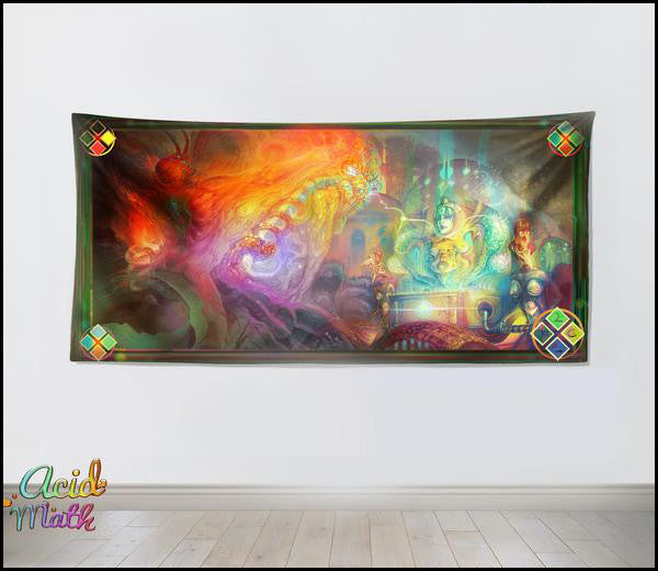 Neon Lazer Apocalypse, In Search of Codex Aplocalyptica Tapestry by Luca Carey
