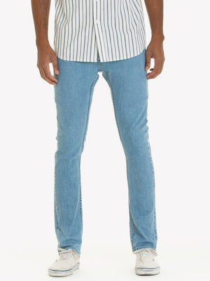Obey New Threat Denim Slim Fit Light Indigo Pants Ascent Wear - 1