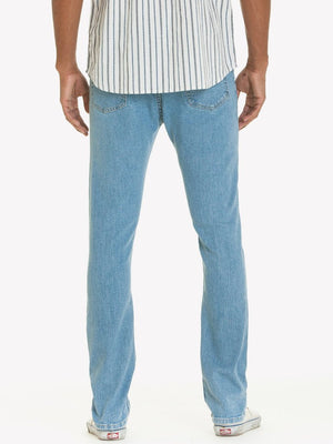 Obey New Threat Denim Slim Fit Light Indigo Pants Ascent Wear - 4