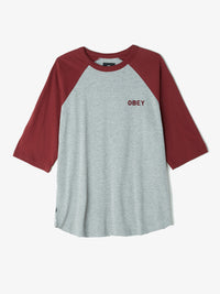 Obey Afton Raglan Tee  Ascent Wear - 1