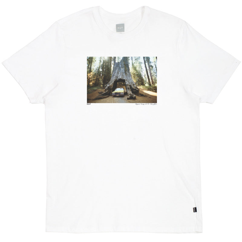 Huf Family Acid Sequoia Garage T-Shirt White Shirts Ascent Wear - 1