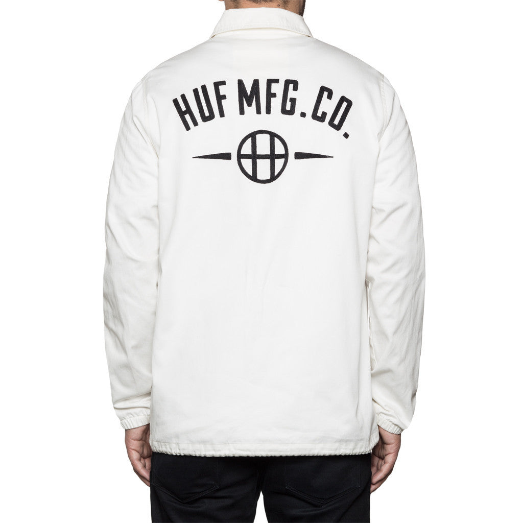 Huf MFG Station Jacket White Light Jackets Ascent Wear - 2