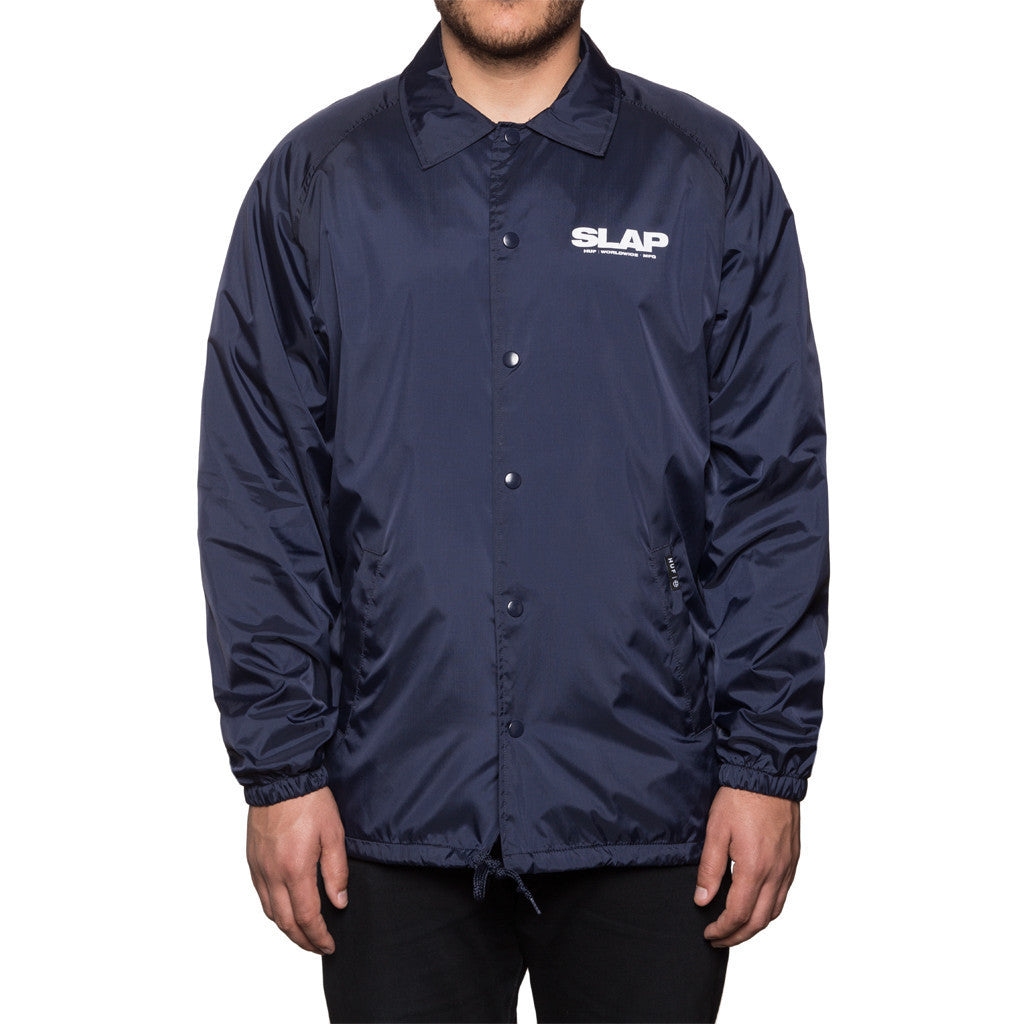 Huf Huf x Slap Coaches Jacket Navy Light Jackets Ascent Wear - 1
