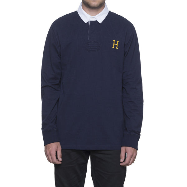 Huf Twickenham Rugby L/S Shirt Navy Shirts Ascent Wear - 1