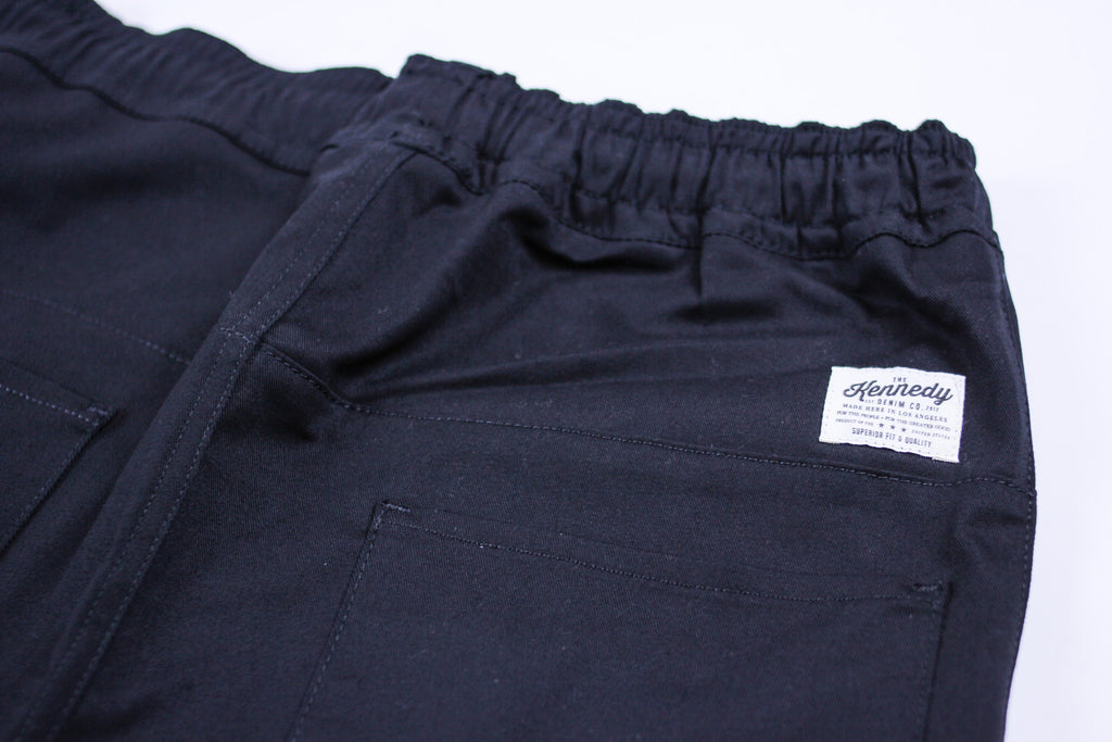 Kennedy Denim Dropcrop Pants Black Pants Ascent Wear - 2