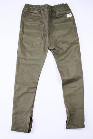 Kennedy Denim Dropcrop Pants Olive Pants Ascent Wear - 4