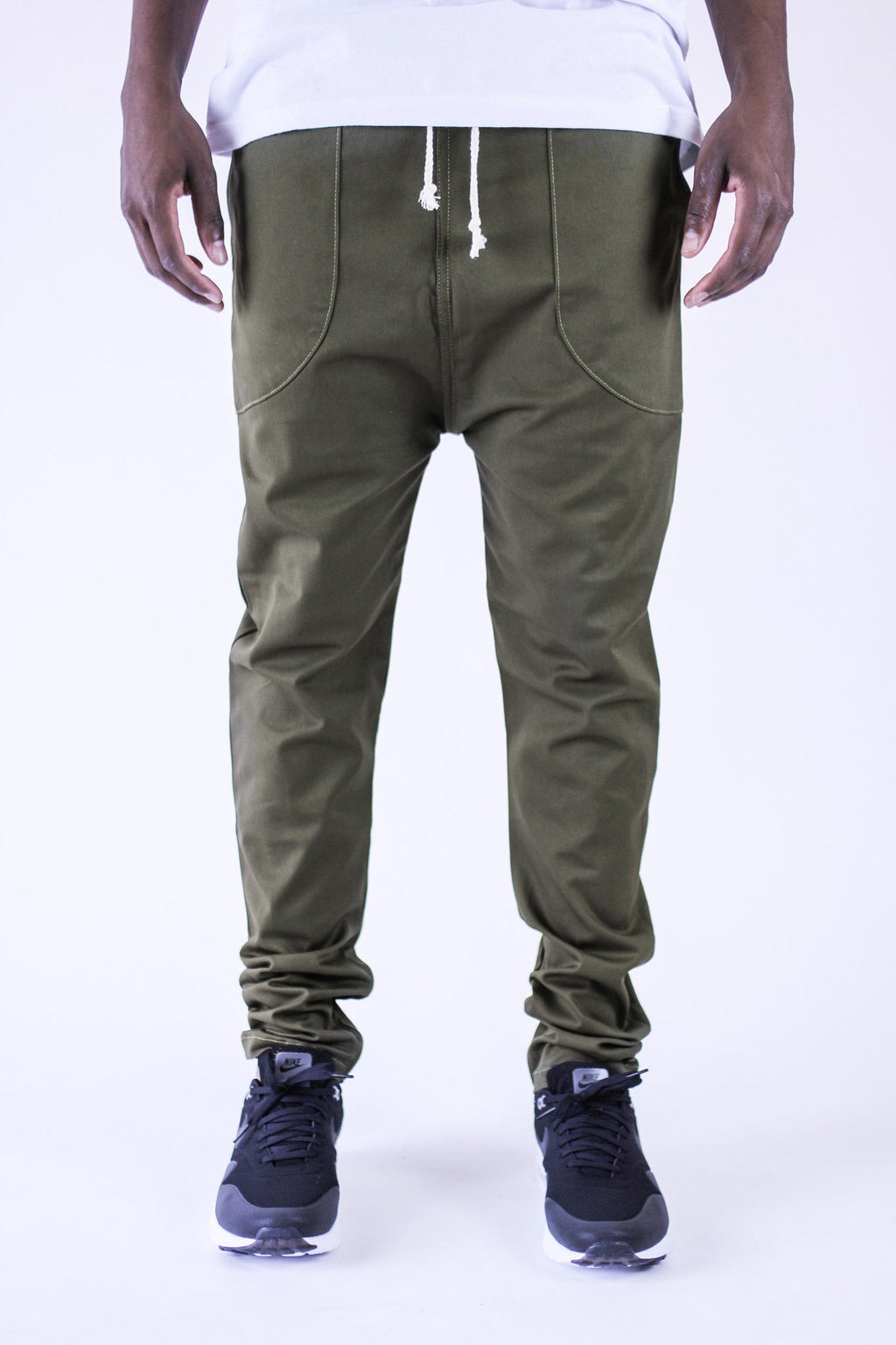 Kennedy Denim Dropcrop Pants Olive Pants Ascent Wear - 1
