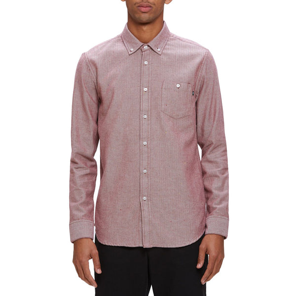 Obey Wiseman Burgundy Multi Shirt Shirts Ascent Wear