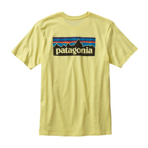 Patagonia Men's P-6 Logo Cotton T-Shirt Shirts Ascent Wear - 3